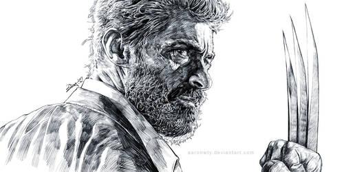 Old Logan - sketch by aaronwty