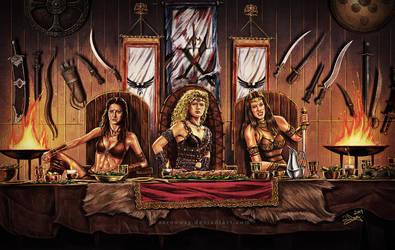 Xena - The Amazon Warriors by aaronwty