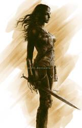 Wonder Woman - Gal Gadot by aaronwty