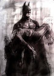 Batman classic scene by aaronwty