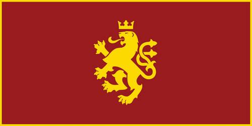 Macedonia - Golden Lion Flag v.2 by Calkino