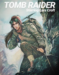 Vintage style Lara Croft Poster by J3ckyll
