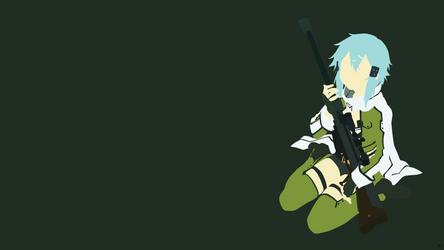 Sinon {Sword Art Online II} by greenmapple17