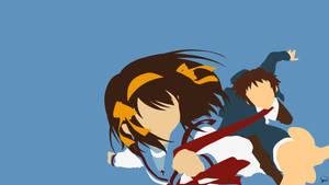 Haruhi Suzumiya/Kyon {Haruhi Suzumiya Series} by greenmapple17