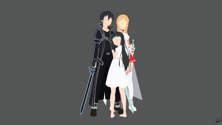 Kirito/Asuna/Yui {Sword Art Online} by greenmapple17