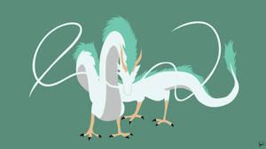 Haku Dragon Form {Spirited Away} by greenmapple17