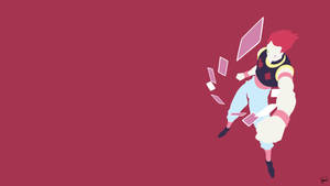 Hisoka (Hunter x Hunter) Minimalist Wallpaper by greenmapple17