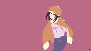 Nadeko Sengoku (Bakemonogatari) Minimalism by greenmapple17