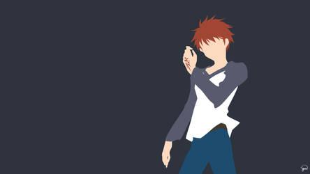 Shirou Emiya (Fate/Stay Night) Minimalism by greenmapple17