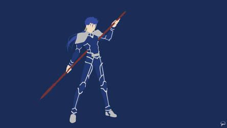 Lancer (Fate/Stay Night) Minimalist Wallpaper by greenmapple17