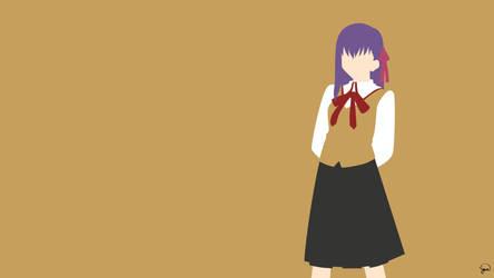 Sakura Matou (Fate/Stay Night) Minimalism by greenmapple17