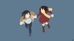 Fujinuma/Hinazuki {Boku Dake ga Inai Machi} by greenmapple17