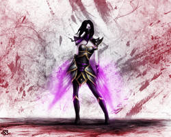 Templar Assassin - Lanaya (colored) by Lavirit