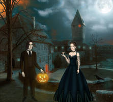 'Book of lives ' at Halloween - Haunted manor by Arrelline