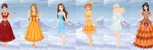 6 gems in Snow Scene by Arrelline