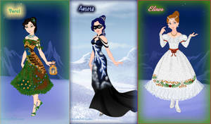 Romantic forest masquerade - Round 2 of challenges by Arrelline