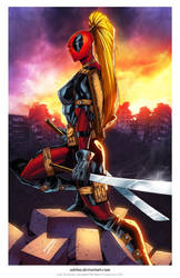Lady Deadpool print... by adelsocorona