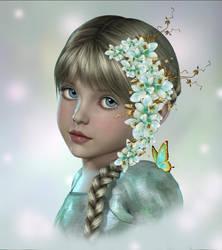 Paulette the flower girl by adriediana