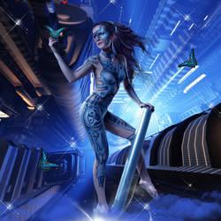 Sci-fi Bodypaint by adriediana