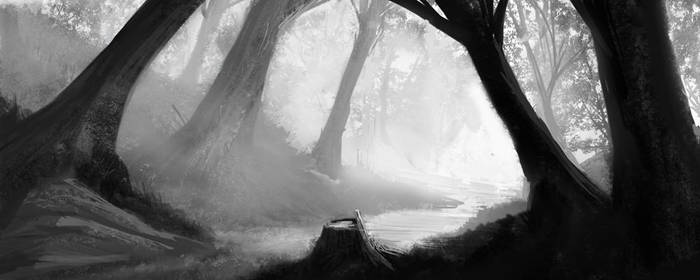 Speedpaint - Stumped Mystic Forest by ColinVolrath