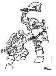 Dwarf vs. Orc by CA2007