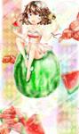 Watermelonprincess by sleepingnugget