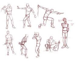 gesture drawing #1 by AngelKite