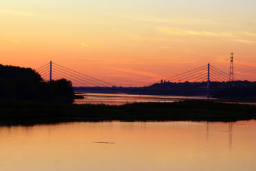another sunset at Vistula river by Su58