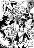 Comics For Cures - New Mutants by Jayson-kretzer