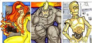 Moar Sketch Cards again... by Jayson-kretzer
