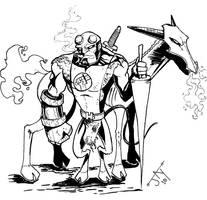 Medieval Hellboy by Jayson-kretzer