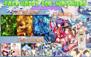 [PACK] HAPPY 700+ WATCHERS by IceAge-DA