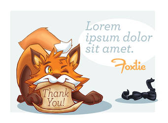 Mr. Foxtie - Thank you card by sabiishi