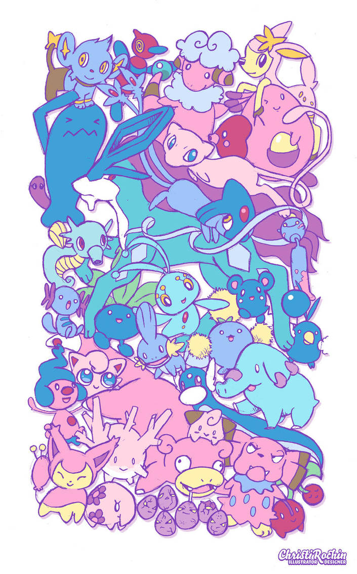 Pokemon Pink AND Blue by sabiishi