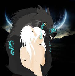 WoW: Luna and her Wolf by LunaettaIcereaver
