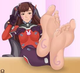 D.Va (Overwatch) Feet/Soles by pervyfeetlover