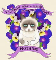 Grumpy cat by MigraineSky