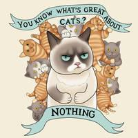Grumpy cat II by MigraineSky