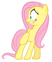 Scared Fluttershy by Proenix