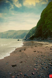 Lynmouth Beach by PsychoPixel