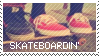 Skateboarding Stamp by MISSTAMPIES
