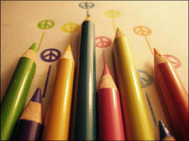 peace love and colored pencils by vickyyyyylynnnnn