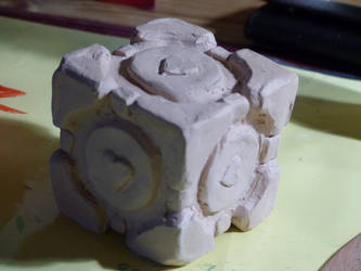 Companion Cube WiP by Sol-0710