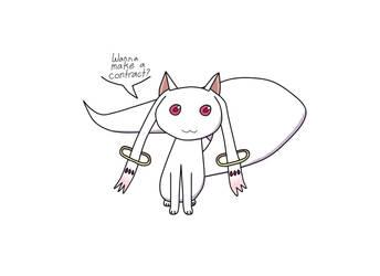 Kyubey by PeanutButterGal