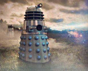 Dalek Skirmish by AntLamb