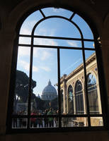 St. Peter's Basilica Through a Window by ShipperTrish