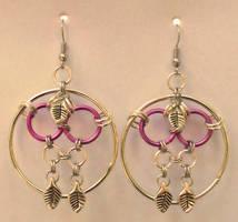 Leaf Web Earrings by Ginkage