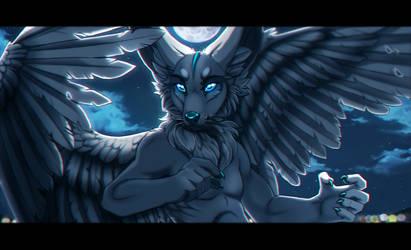 Art trade with grypwolf by MrChibbe