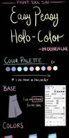 Holographic Coloring (Clothing) ~ Paint Tool SAI by DerrenLar