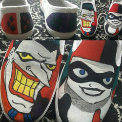 Harley/Joker shoes by Mrs-Reed